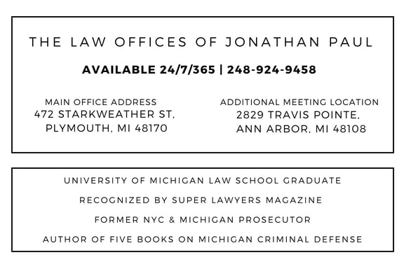 mip in michigan, sentence, jail, fines, minor in possession lawyer